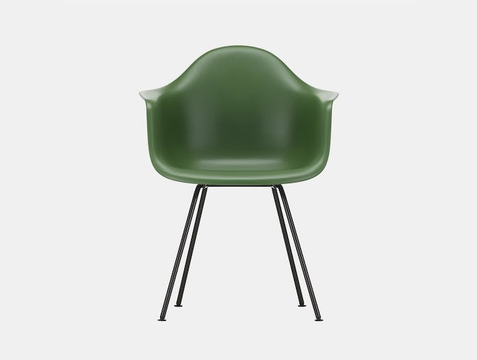 Vitra Eames Plastic Armchair DAX 48 Forest Blk Front