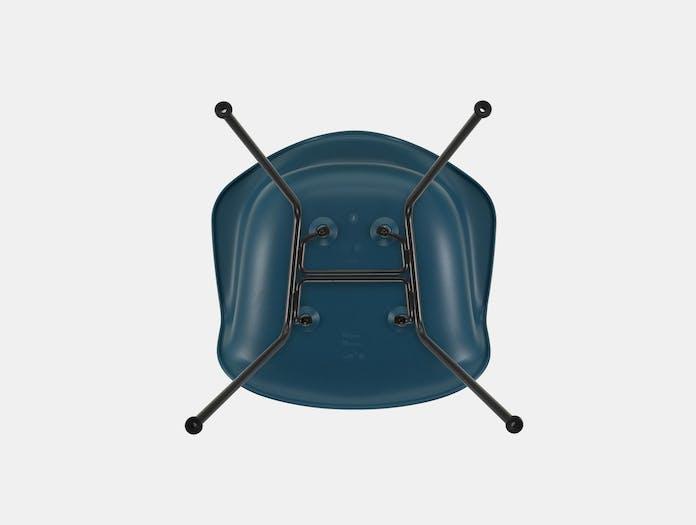 Vitra Eames Plastic Armchair DAX 83 Sea Blue Blk Underside