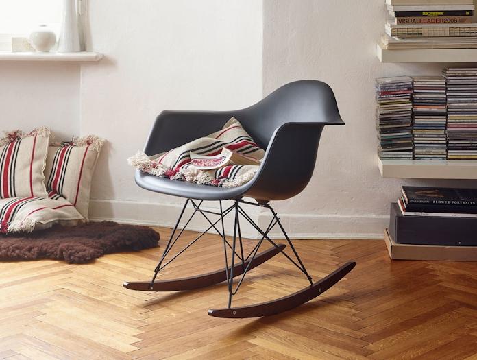 Vitra Eames Rar Rocking Chair Basalt Dark Maple Charles And Ray Eames