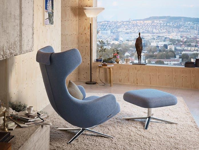 Vitra Grand Repos Lounge Chair Blue Antonio Citterio