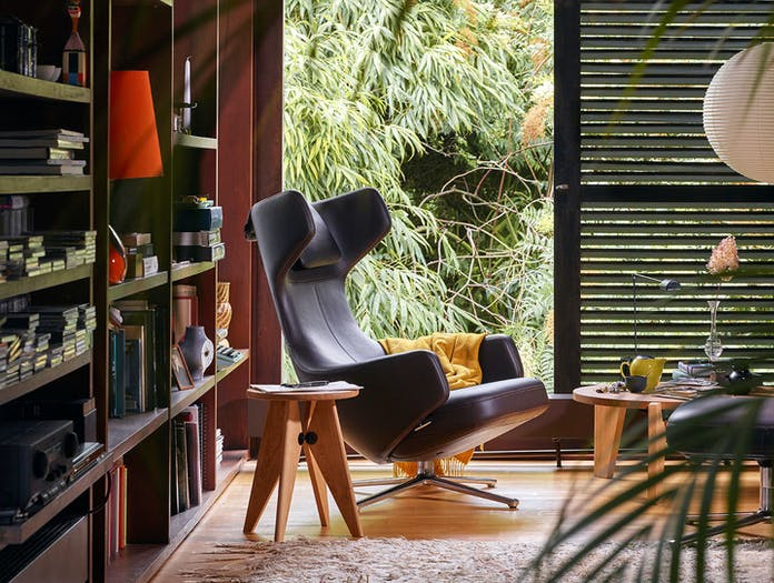 Vitra Grand Repos Lounge Chair Leather Antonio Citterio