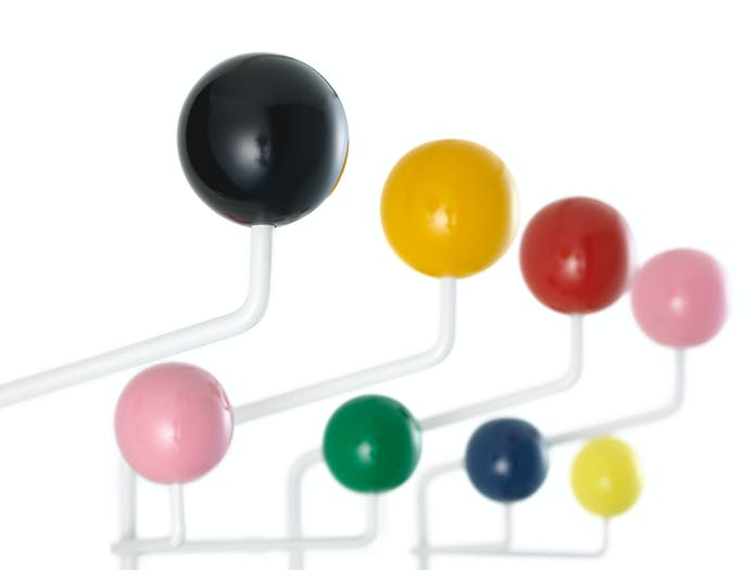Vitra Hang It All Coat Rack Multicoloured Detail Charles And Ray Eames