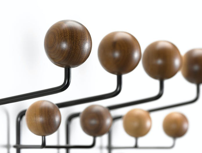 Vitra Hang It All Coat Rack Walnut Detail Charles And Ray Eames