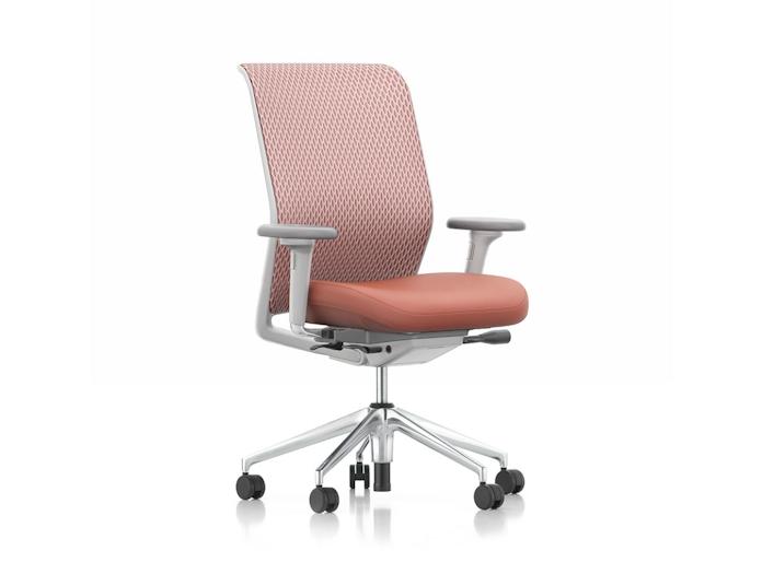 Vitra Id Mesh Office Chair Plano Cognac Antonio Citterio