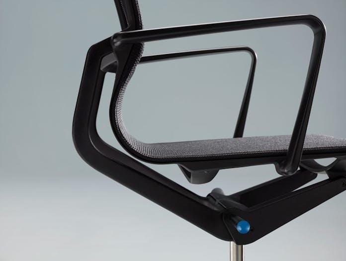 Vitra Physix Office Chair Black Detail Alberto Meda