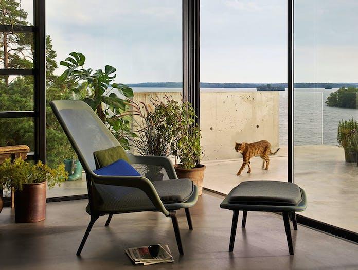 Vitra Slow Chair Blue Green Ronan Erwan Bouroullec