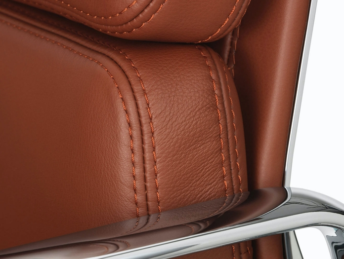 Vitra Soft Pad Group Chair Brandy Detail Charles And Ray Eames