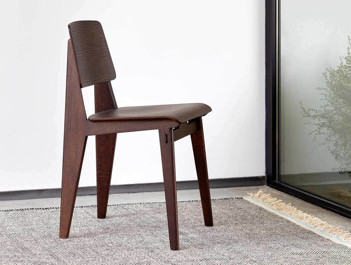 Vitra chaise tout bois prouve dark