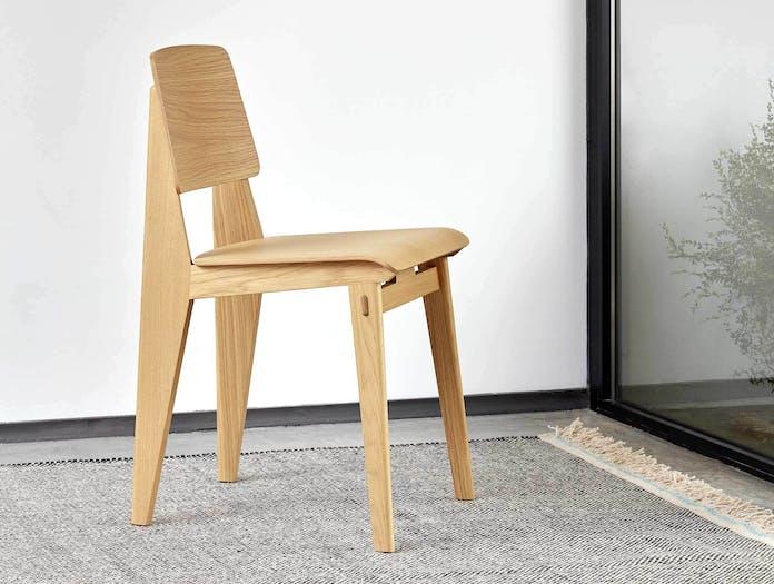 Vitra chaise tout bois prouve nat