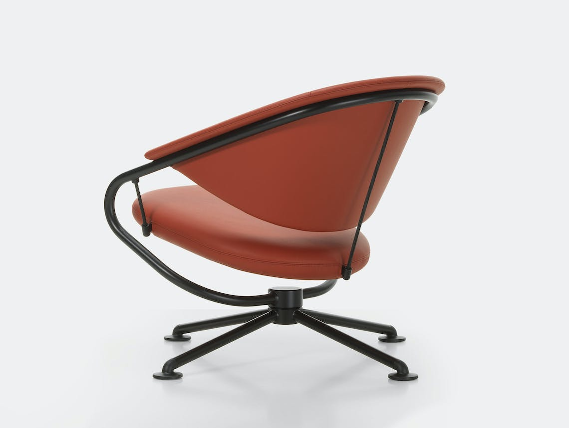 Vitra citizen lowback chair brown leather 1