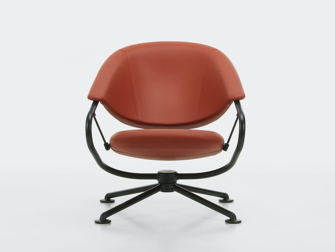 Vitra citizen lowback chair brown leather 2