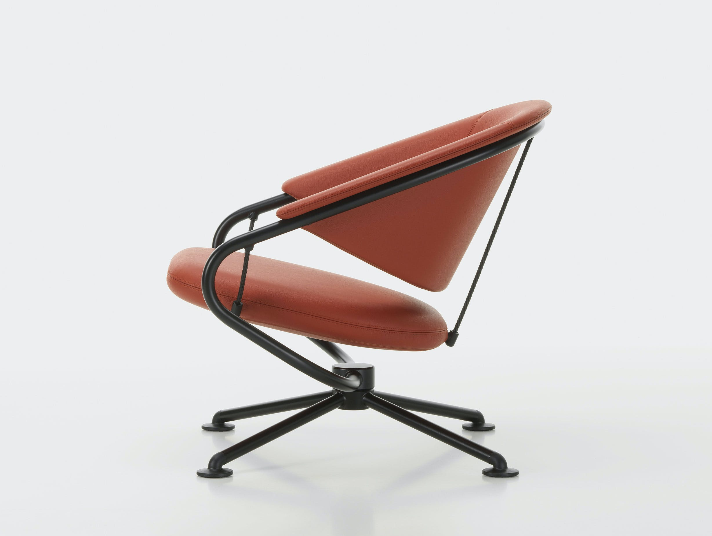 Vitra citizen lowback chair brown leather 3