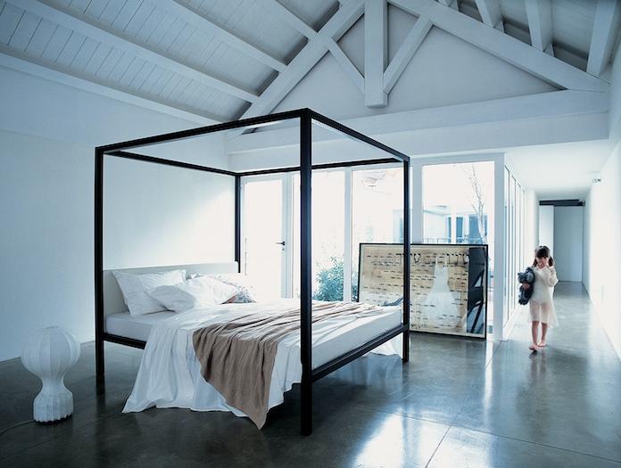 Zanotta Milleunanotte Bed Wenge Stained Oak Frame Emaf Progetti