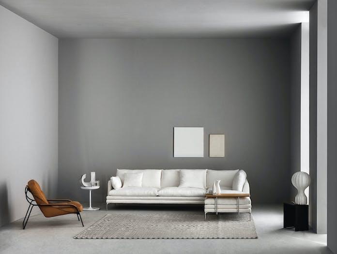Zanotta William Three Seater Sofa With Chaise Damian Williamson