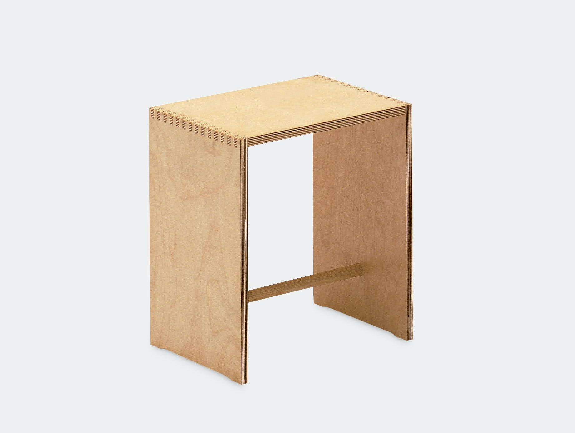 Zanotta Sgabillo Stool Birch Max Bill