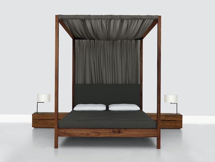 Zeitraum In Heaven Walnut Bed Canopy Birgit Gammerler Nana Groner