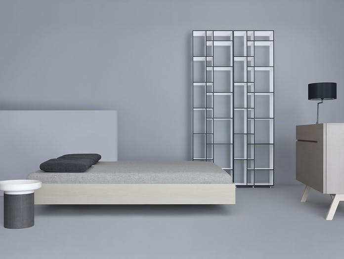 Zeitraum Simple Bed Stained Grey Formstelle
