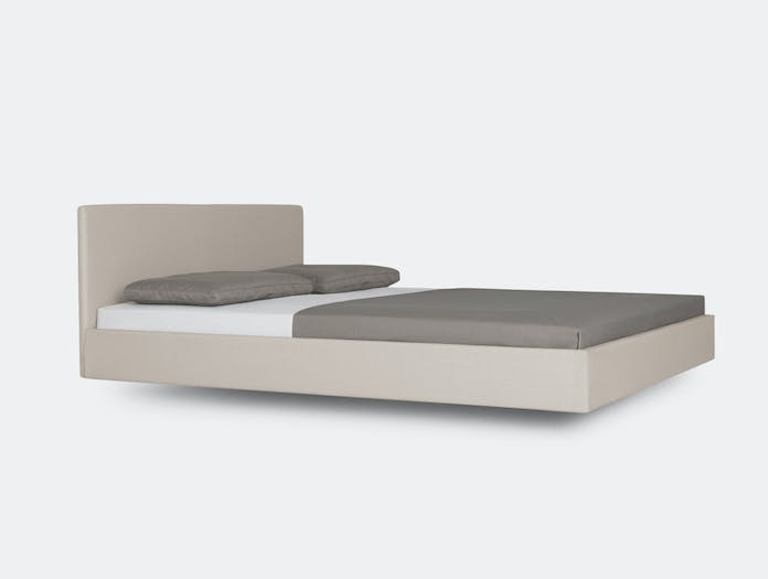 Zeitraum Simple Soft Bed Grey With Headboard Formstelle