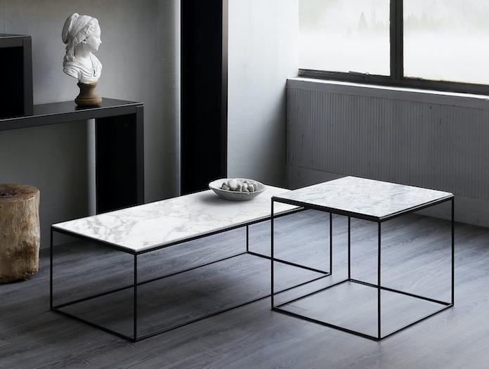 Zeus Slim Marble Low Tables Maurizio Peregalli